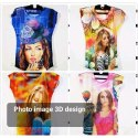 Ladies 3D Printed T Shirts