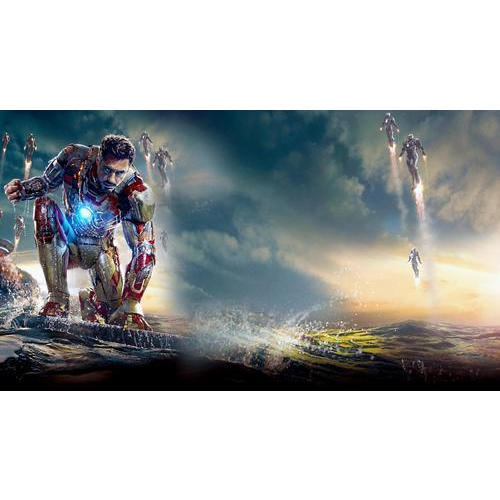 Pvc Iron Man 3d Wallpaper Thickness 1 2 Mm Rs 30 Square Feet