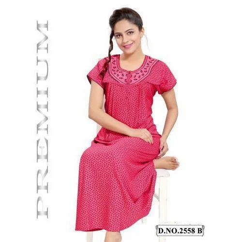 35085d7c7a Cotton Ladies Fancy Nighty