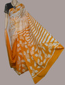 Yellow Casual Wear Cotton Panting Saree, Hand, 6.3 M (with Blouse Piece)