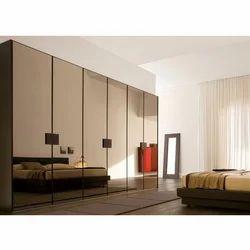 Glass Modern Bedroom Designer Wardrobe