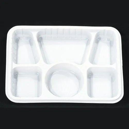 Plain White Disposable Plastic Plate, for Event