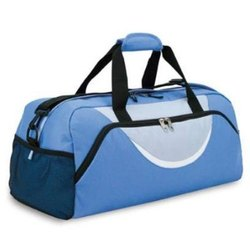 Blue Polyester Casual Duffle Bag, For Travel, Size: 44x30x22 Cm