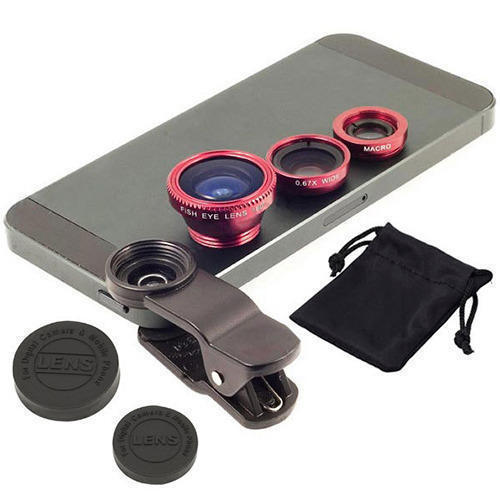 Clip-On Fisheye Wide Angle Macro Lens Set