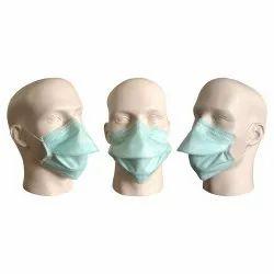 Polypropylene Disposable 3 Ply Ear Loop Green Chamber Surgical Mask, Model Name/Number: TT-3GCM