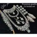 Ladies Premium Quality Cz Bridal Necklace Set