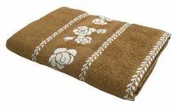 Lushomes Bath Towel with Jacquard Border For Men