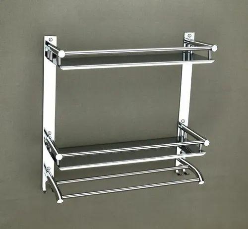 Bathroom Accessories Shelf SS Manufacturer From Rajkot
