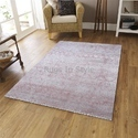 Rectangular Handloom Viscose Carpet