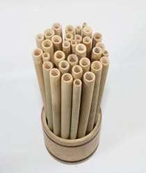Ethica Natural Bamboo Straw, For Drinking, Size: 6