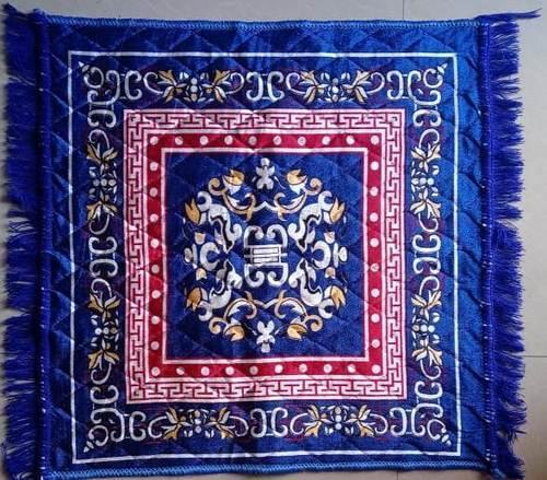 Multicolor BAGMA Pooja Asan Mat-3, Size: 23x23 Inches