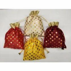 String Dotted Potli Bag