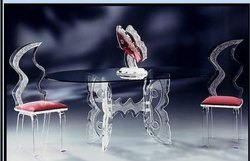 Elite Acrylic Butterfly Dining Table, Dimension: 30 x 48 x 29 Inch
