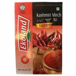 Ekoland Kashmiri Chilli Powder, Packaging: 1 kg