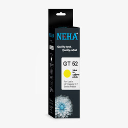 Ink For HP GT52 Yellow