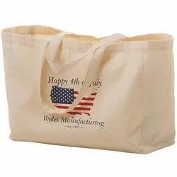 Loop Handle Handled Designer Cotton Bags, Capacity: 15kg, Size/Dimension: h16