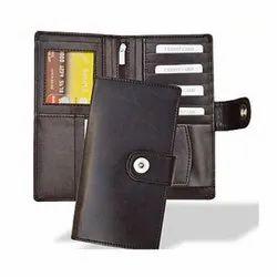 Ladies Plain Brown Leather Wallet