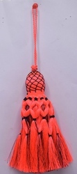 Orange 100 % Polyester Decorative Tassel