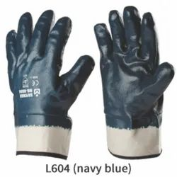 Nitrile Coated Gloves With Safety Cuff / Knite Wrist