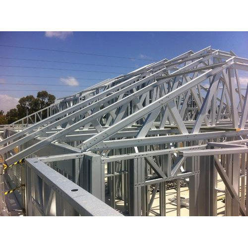 Steel Stainless Steel Angular Roof Truss Rs 1200