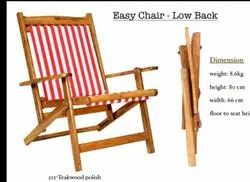 Low Back Wooden Folding Easy Chairs