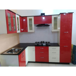 Red And White Modular Kitchen Cabinets Part 96