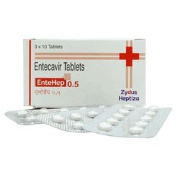 Entecavir (0.5mg) Entehep0.5 Tablet ENTECAVIR, Packaging Type: Strip