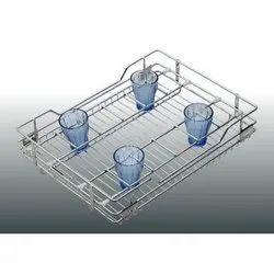 SS Wire Glass Basket, Size/Dimension: 12x20x8