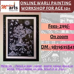 3 To 4.30 Online Warli Painting Classes