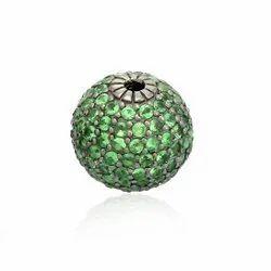Pave Gemstone Ball Bead Findings