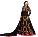 Georgette Anarkali Style Semi-Stitched Party Wear Salwar Kameez