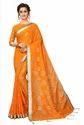 Dollar Orange Pure Lilan Cotton Saree