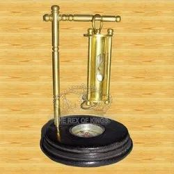 Sand Timer With Compass Wooden Base