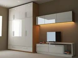 Wooden Wall Mounted Wardrobe Cabinet, For Home
