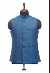 WC00032-339 Blue Ethnic Waist Coat