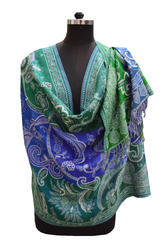 Boiled Wool Jacquard Stole