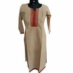Shreeji 3/4th Sleeve Ladies Casual Wear Cotton Kurti, Size: L