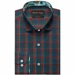 Charles Dino Collar Neck Mens Stylish Cotton Shirt