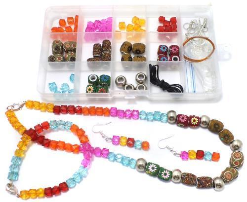 91c28806d683a Jewellery Making Acrylic And Lac Beads Diy Kit