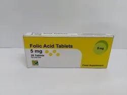 Folic Acid 5mg Tablets, Facmed Pharma, Prescription