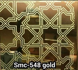 Gold Etching Designer Stainless Steel Sheet