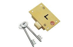 Cupboard Lock - Brass ( 7 Lever Double Turn Universal )