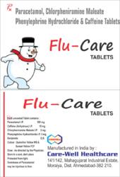 Paracetamol Phenylephrine Hydrochloride and Caffeine Tablet
