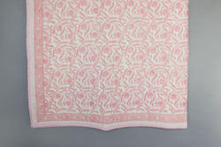 Cotton Kalamkaari Block Print Quilt