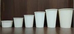 White Plain Disposable Paper Cup And Glass