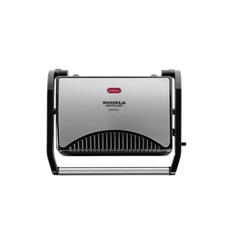Premium Black & Silver Maharaja Whiteline Panini Sandwich Maker With Pilot Light