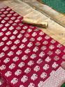 Soft Banarasi Silk Saree With weaving work