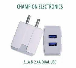 2.1Amp Dual USB Mobile Charger(Ultrasonic)