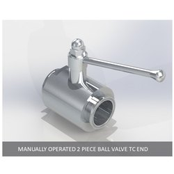 Manually Operated 2 Piece Ball Valve TC End