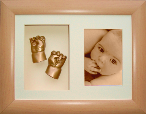 My Impression Studio DIY Newborn 3D Hands n Feet casting kit with Metallic  Gold paint color